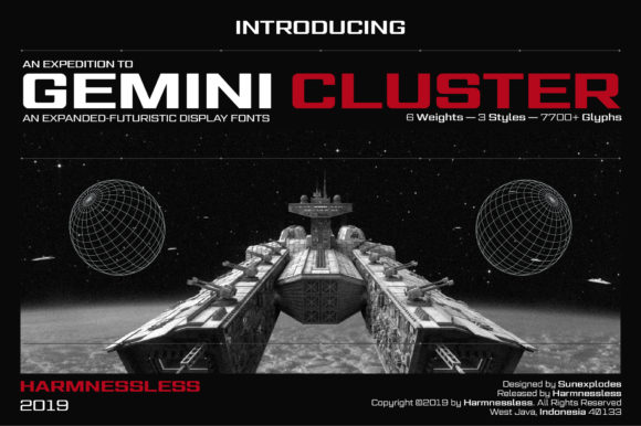 Print on Demand: Gemini Cluster - Expanded Fonts Display Font By Akbar Ar-rohman