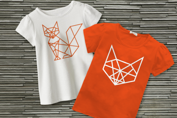 Geometric Fox  Graphic Crafts By DesignedByGeeks
