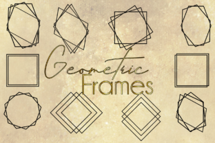 Download Free Geometric Vector Frames Graphic By Unicorn Imaging Creative SVG Cut Files