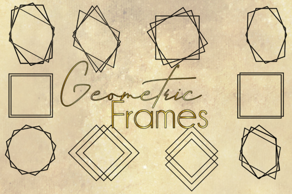 Geometric Vector Frames Graphic Illustrations By Unicorn Imaging