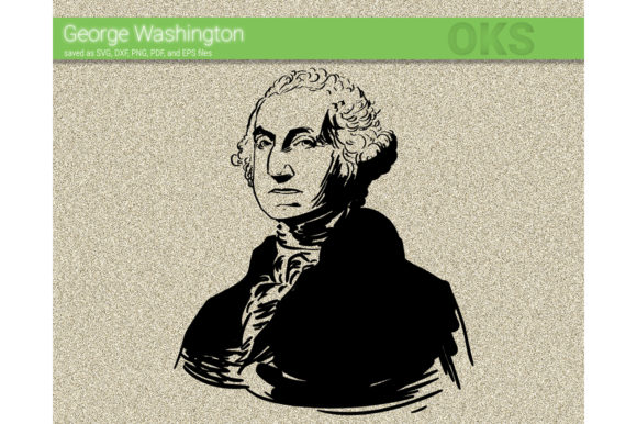 Print on Demand: George Washington Vector Graphic Crafts By CrafterOks
