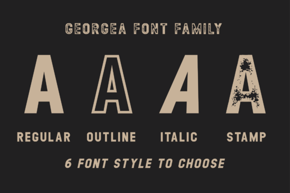 Print on Demand: Georgea Sans Serif Font By fanastudio - Image 2