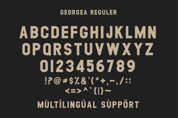 Print on Demand: Georgea Sans Serif Font By fanastudio - Image 13