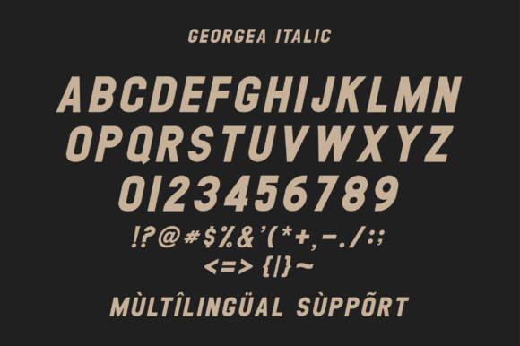 Print on Demand: Georgea Sans Serif Font By fanastudio - Image 14