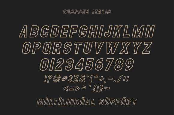 Print on Demand: Georgea Sans Serif Font By fanastudio - Image 16
