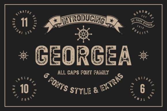Print on Demand: Georgea Sans Serif Font By fanastudio