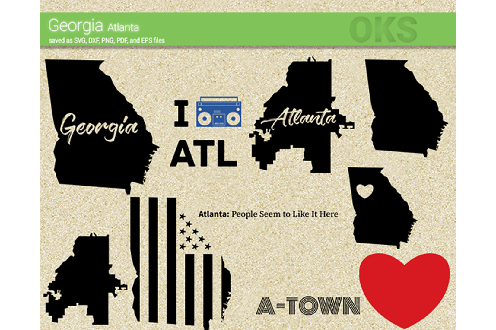 Download Free Georgia Atlanta Vector Graphic By Crafteroks Creative Fabrica for Cricut Explore, Silhouette and other cutting machines.