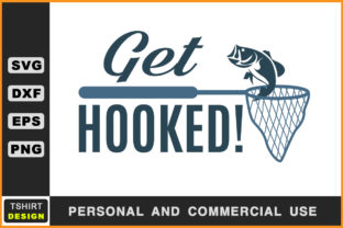 Download Free Get Hooked Fishing Svg Graphic By Handmade Studio Creative Fabrica for Cricut Explore, Silhouette and other cutting machines.