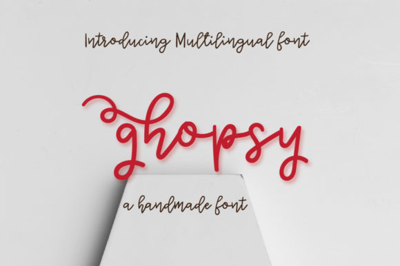 Print on Demand: Ghopsy Script & Handwritten Font By Autumn Designs