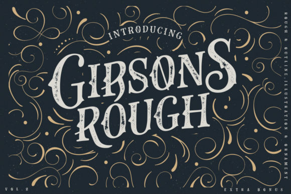 Print on Demand: Gibsons Co Display Font By lickermelody - Image 1