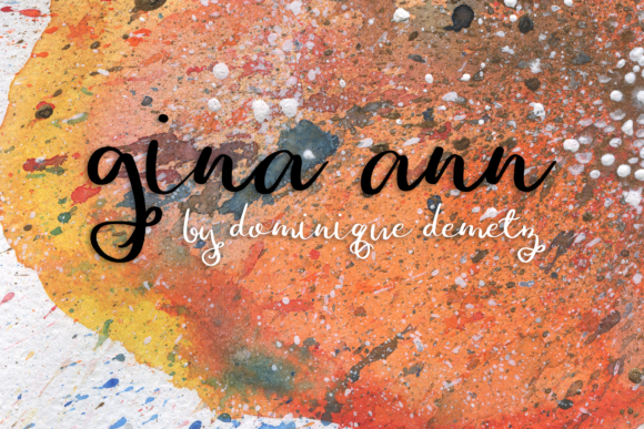Print on Demand: Gina Ann Script & Handwritten Font By Dominique Demetz