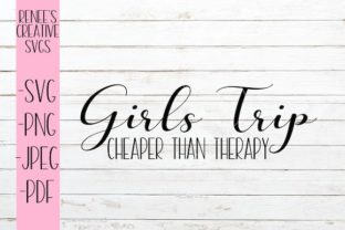 Download Free Girls Trip Cheaper Than Therapy Svg Graphic By for Cricut Explore, Silhouette and other cutting machines.
