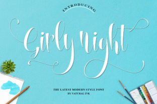 Girly Night Font By Natural Ink