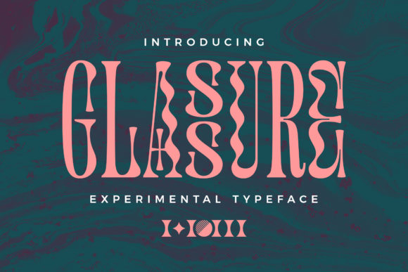 Print on Demand: Glassure Display Font By Halfmoon Type
