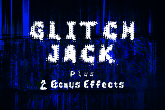 Print on Demand: Glitch Jack Display Font By GraphicsBam Fonts