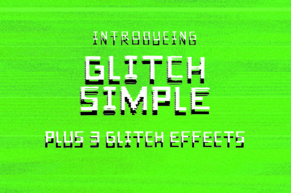Print on Demand: Glitch Simple Display Font By GraphicsBam Fonts