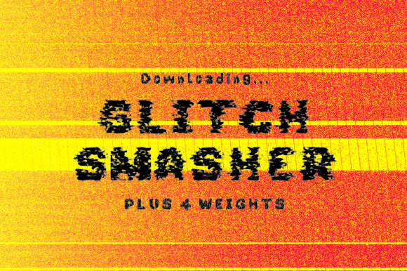 Print on Demand: Glitch Smasher Display Font By GraphicsBam Fonts