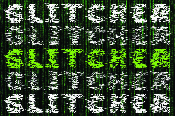 Print on Demand: Glitcher Display Font By GraphicsBam Fonts