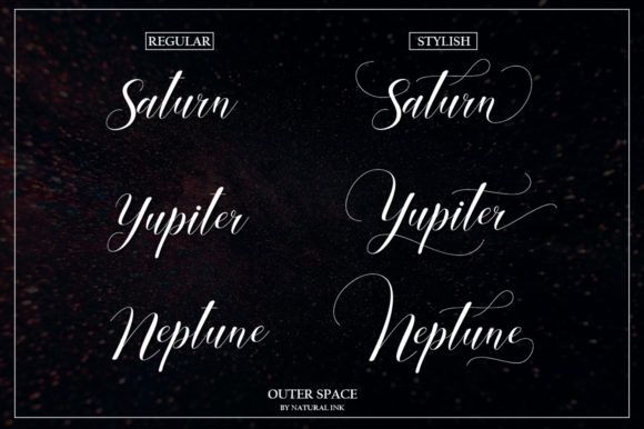 Glitter Script Font By Natural Ink Image 2