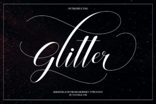 Glitter Script Font By Natural Ink