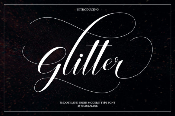 Print on Demand: Glitter Script Script & Handwritten Font By Natural Ink