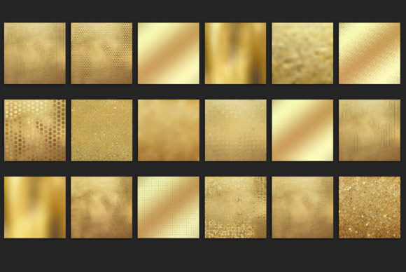 Print on Demand: Gold Foil Textures50 Background Graphic Textures By Creative Paper - Image 3
