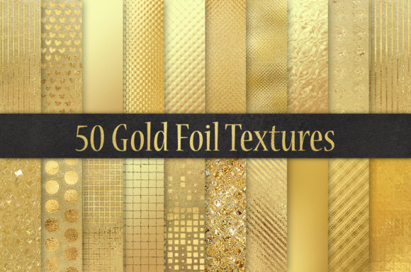Print on Demand: Gold Foil Textures50 Background Graphic Textures By Creative Paper
