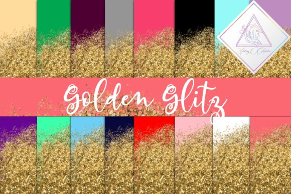 Print on Demand: Golden Glitz Digital Paper Graphic Textures By fantasycliparts