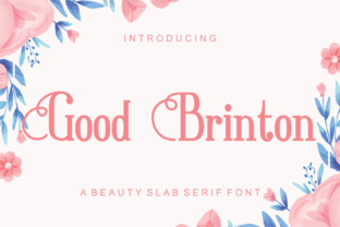 Print on Demand: Good Brinton Slab Serif Font By LetterBeary