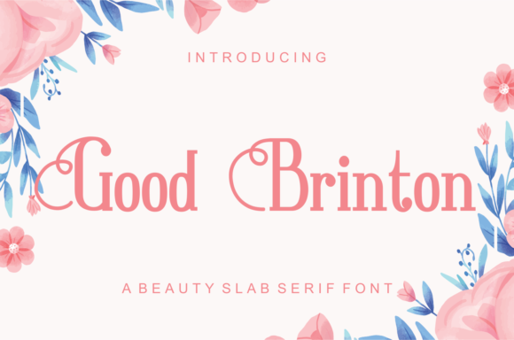 Print on Demand: Good Brinton Slab Serif Font By LetterBeary - Image 1