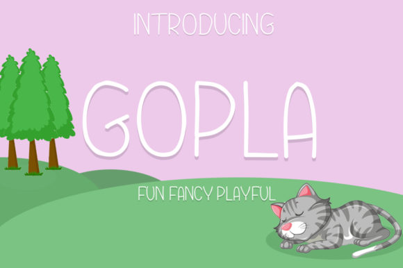 Print on Demand: Gopla Display Font By Hahahihi