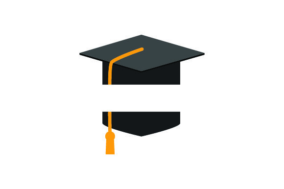 Download Free Graduation Cap With Space For Monogram In The Middle Svg Cut File for Cricut Explore, Silhouette and other cutting machines.