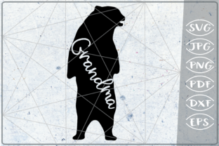 Download Free Grandma Bear Graphic By Cute Graphic Creative Fabrica for Cricut Explore, Silhouette and other cutting machines.