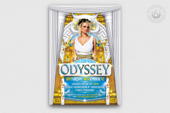 Greek Party Flyer Template Graphic By ThatsDesignStore