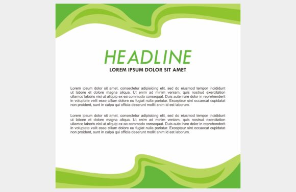 Green Background Frame Graphic Backgrounds By dstudio