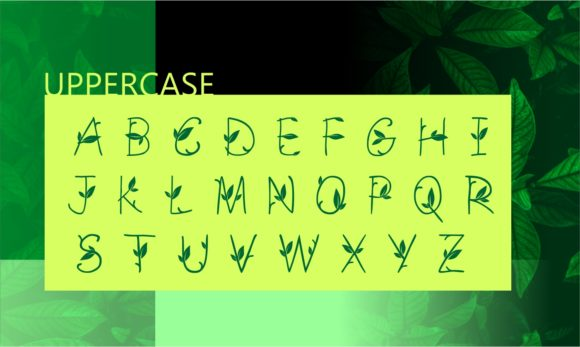 Print on Demand: Green Nature Decorative Font By ZetDesign - Image 2