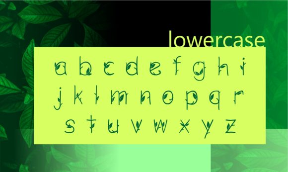 Print on Demand: Green Nature Decorative Font By ZetDesign - Image 3