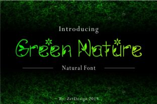Print on Demand: Green Nature Decorative Font By ZetDesign