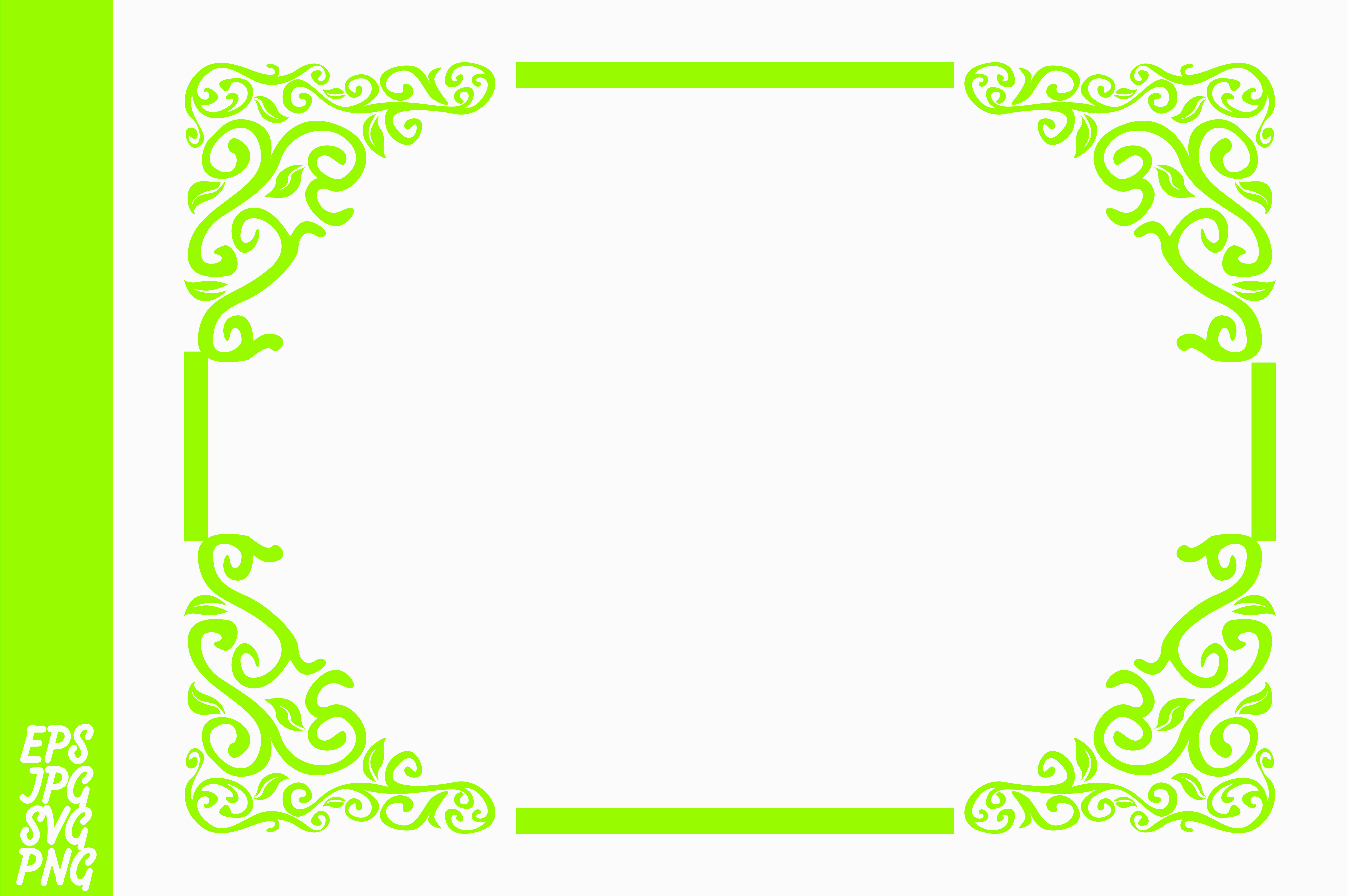 Download Free Green Ornament Border Decoration Graphic By Arief Sapta Adjie for Cricut Explore, Silhouette and other cutting machines.