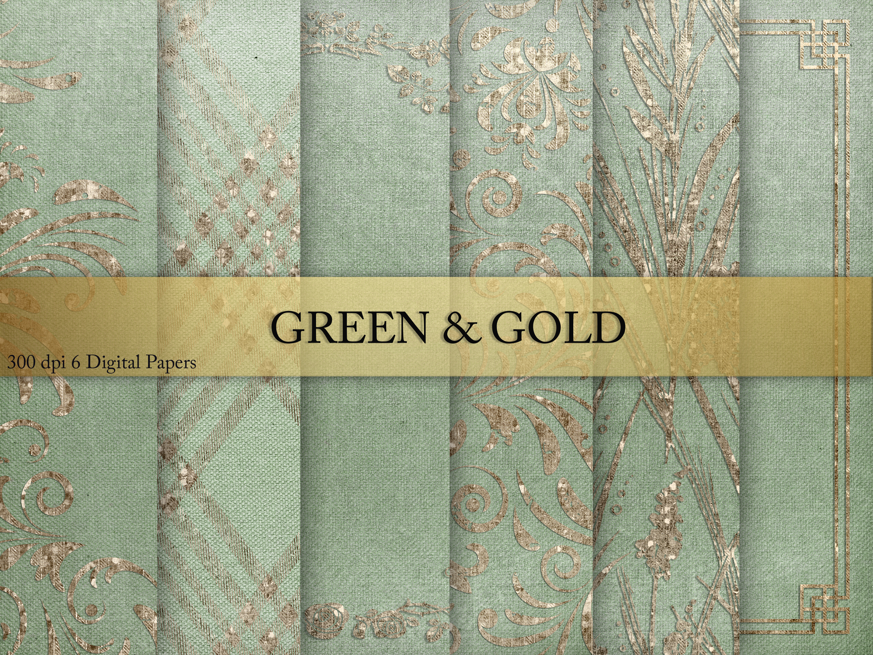 Download Free Gren Gold Digital Paper Graphic By Creative Paper Creative for Cricut Explore, Silhouette and other cutting machines.