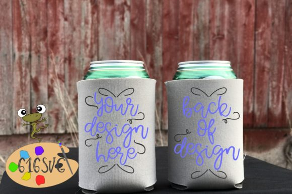 Grey or Gray Can Cooler Mockup Graphic Product Mockups By 616SVG
