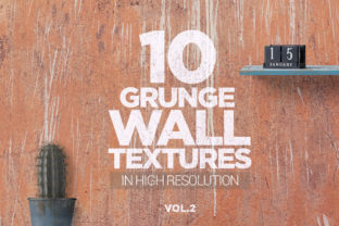 Print on Demand: Grunge Wall Textures X10 Vol2 Graphic Textures By SmartDesigns