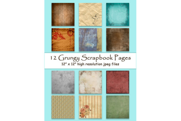 Grungy Digital Paper 12 Graphic Backgrounds By DigitalPrintableMe