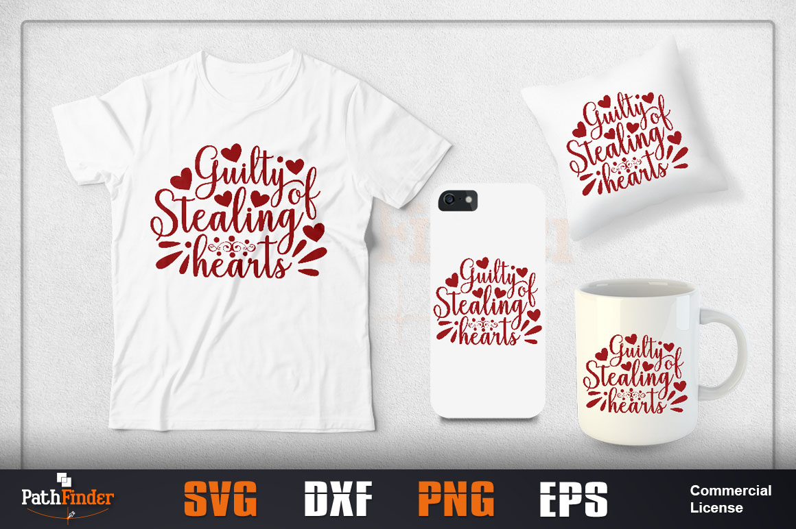 Download Free Guilty Of Stealing Hearts Svg Design Graphic By Pathfinder SVG Cut Files