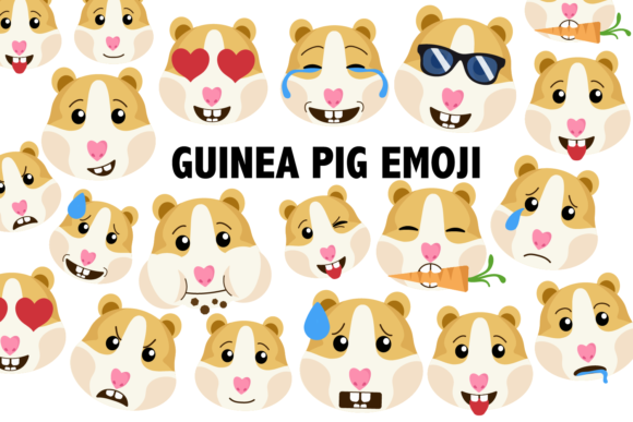 Print on Demand: Guinea Pig / Hamster Clipart Graphic Illustrations By Mine Eyes Design - Image 1