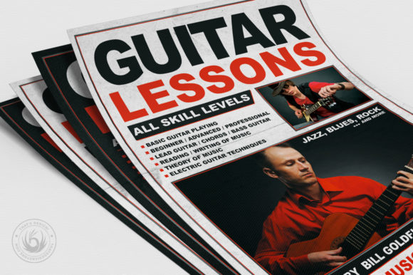 Guitar Lessons Flyer Template V1 Graphic By ThatsDesignStore Image 5