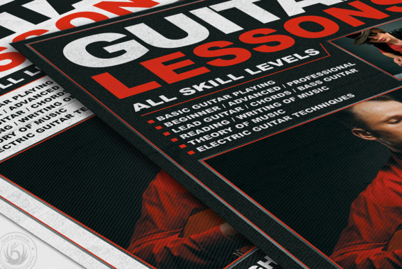 Guitar Lessons Flyer Template V1 Graphic By ThatsDesignStore Image 6