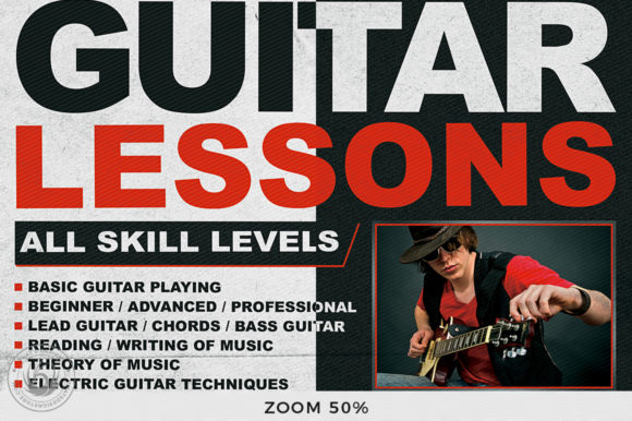 Guitar Lessons Flyer Template V1 Graphic By ThatsDesignStore Image 7
