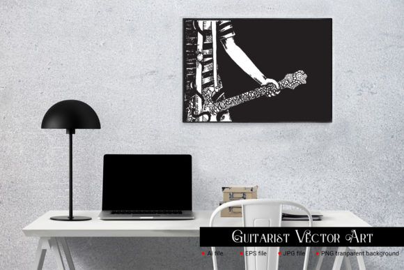 Guitarist Vector Art Graphic Illustrations By gumacreative