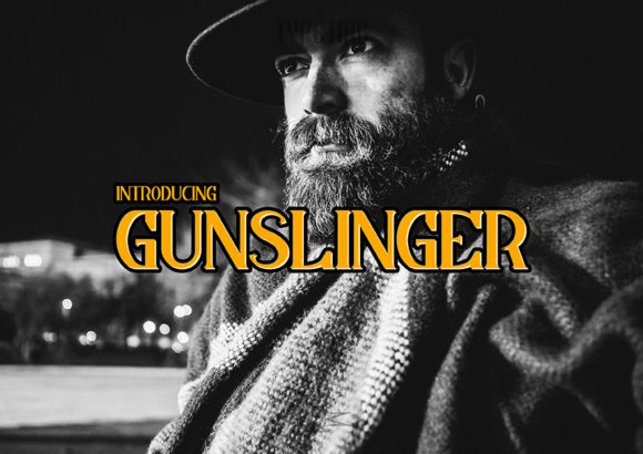 Print on Demand: Gunslinger Exhibición Fuente Por Typeting Studio
